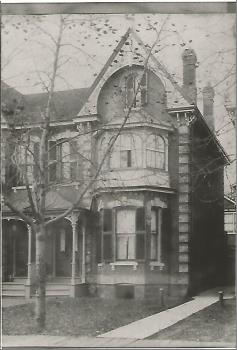 Early home of James & Marion (Scoley) Hales, 4 St. James Street, Toronto
